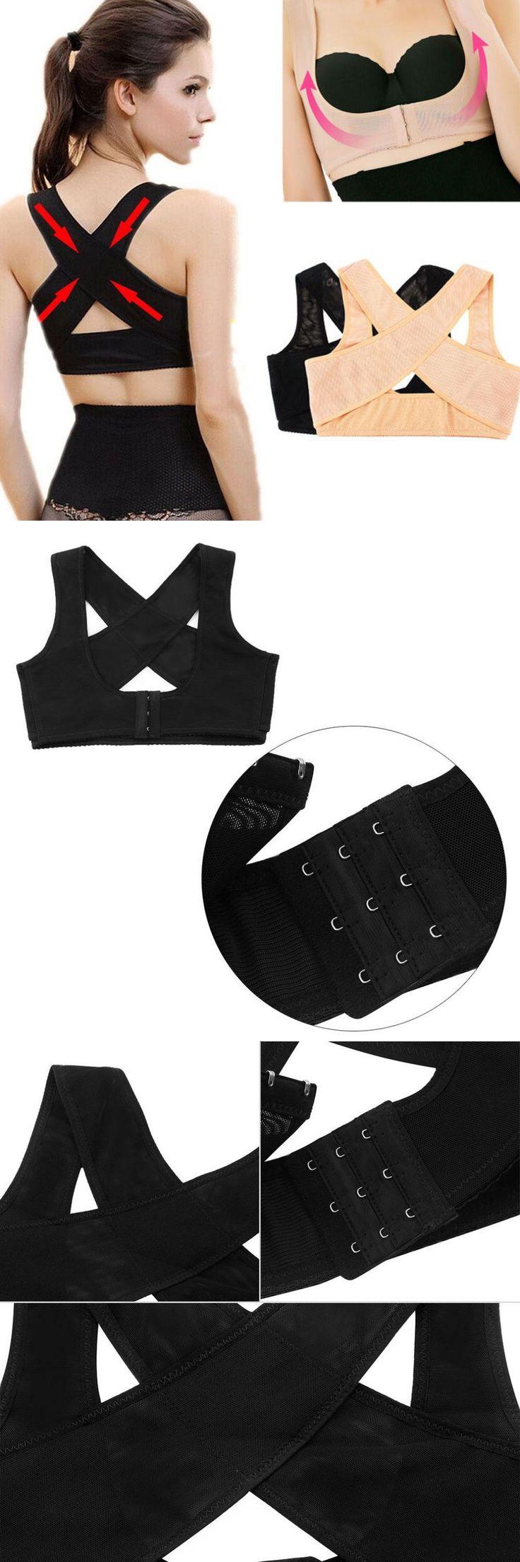 [Visit to Buy] 2 Colors Adjustable Back Brace Posture Corrector Chest Shoulder Support Belt Braces & Supports Health Care #Advertisement