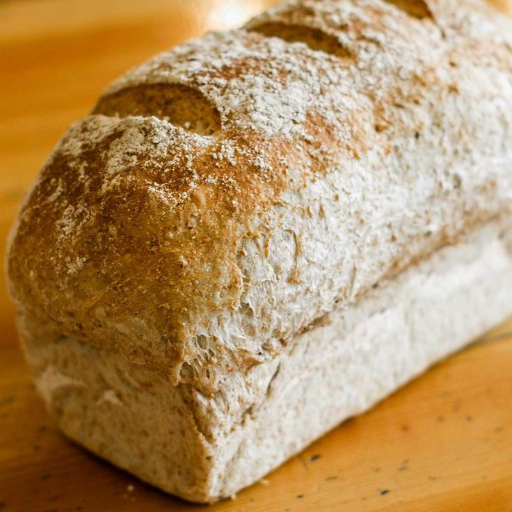 Our wholewheat sourdough has a mild tangy taste, with a soft crumb inside a great crust. Ingredients: wholewheat flour, natural yeast, water, salt