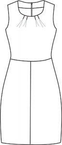Jackie kjole str.34-46  32 (34) 36 (38) 40 (42) 44 (46) sværhedsgrad **  Beskrivelse Kjole uden ærmer, tulipan-effekt i skørtet og læg på overdelens forstykke. Kjolen kan varieres med to forskellige typer ryg og nederdels-længde. Model A har indsnit på ryggen og går til midt på låret. Model B har læg på ryggen, som giver en let pose effekt. Modellen går til knæet.  Det skal du bruge § 135 (135) 135 (135) 135 (135) 140 (140) cm faststof til model A, brd. 140 cm § 145 (145) 145 (145) 145 (145)…
