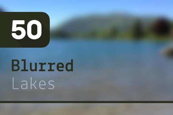 Check out 50 Blurred Lakes by Riccardo Anelli on Creative Market