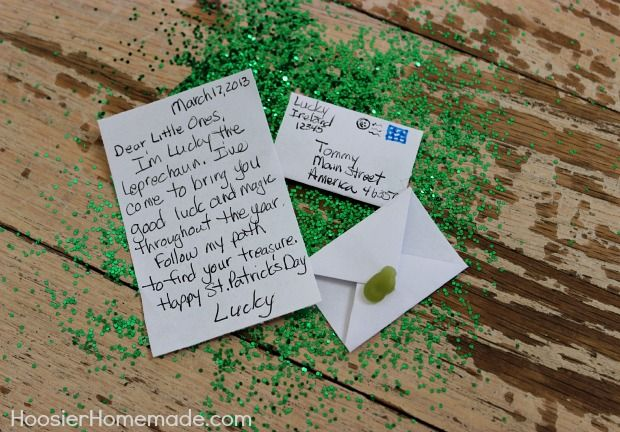 Lucky the Leprechaun Treasure Hunt - Cute for the Kids!