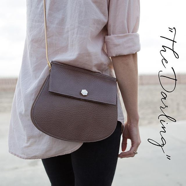 """""""The Darling"""" is our neat little handbag in finest calf leather, that carries your most essential belongings in the most stylish way. Will be available in taupe and in black. #blankensspringsummer2016"""
