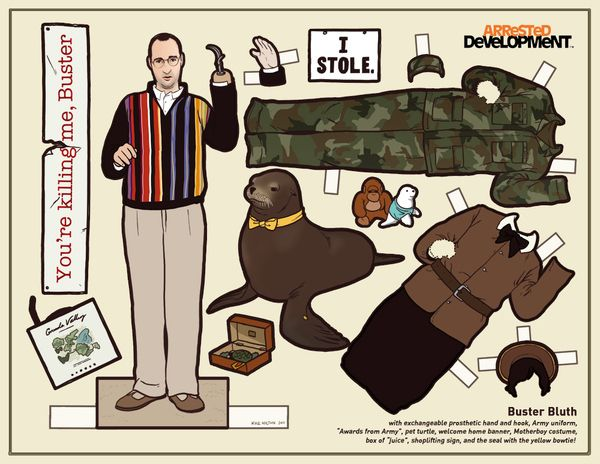 There is an entire set of these... someone please buy me one. #arresteddevelopment #paperdolls: Buster Bluth, Paper Dolls, Busterbluth, Bluth Paper, Development Paper, Kyle Hilton, Arrested Development, Paperdolls