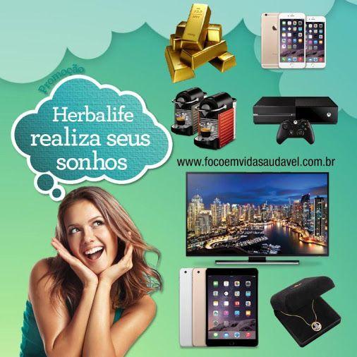 """Promoção """"Herbalife Realiza seus Sonhos"""" http://herba.li/_50mil vai sortear R$50.000,00, Smart TV LED 4K Ultra HD 50 polegadas, Iphone 6S e muito mais! Voce tem até o dia 31/8/16 para participar, por isso comece já, participe, convide e compartilhe com seus amigos e aumente suas chances de ganhar! Saiba mais: whatsapp (11)97153-0245"""
