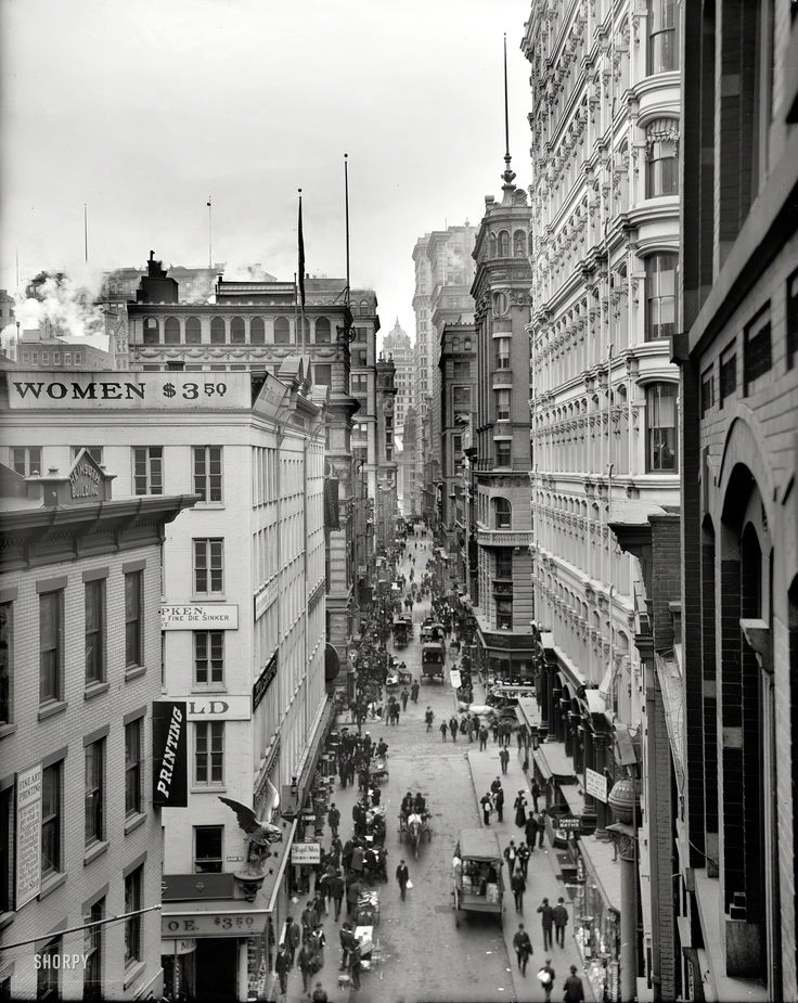 "Circa 1905. ""Nassau Street, New York City."" So, $3.50. By the hour? By the pound?"