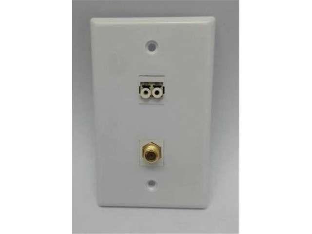 certicable fiber to desktop single gang white wall plate 1 lc duplex multimode