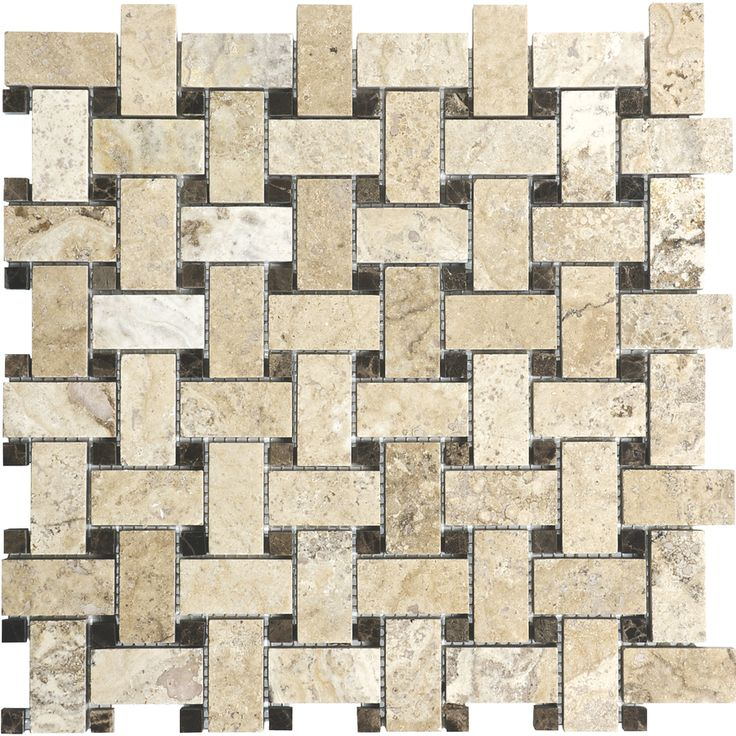 Anatolia Tile Pablo Basketweave Mosaic Travertine Wall Common 12 In X Actual House Solutions Pinterest Tiles