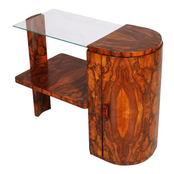 1930s Art Deco Coffee Table Burl Walnut