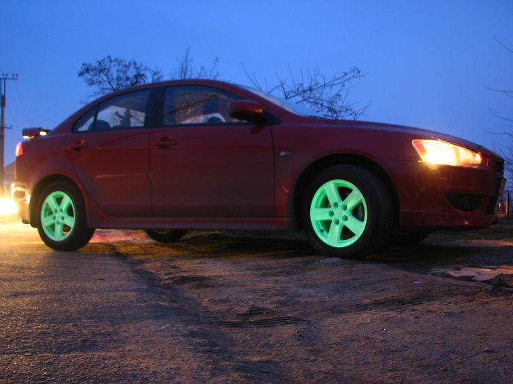 Светящийся диски для машины. Светящаяся краска Acmelight Metal *** Glowing disks for the car. Luminous Paint Acmelight Metal #glow #disks #car #paint #luminous #metal