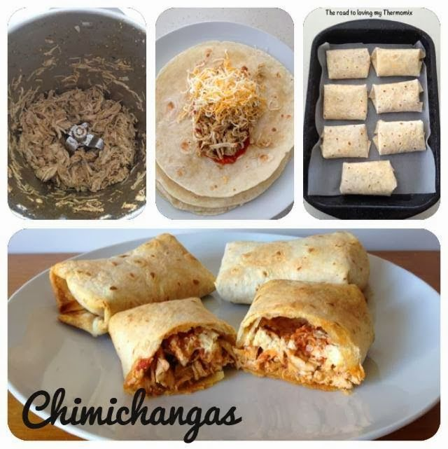 The road to loving my Thermomix: Chimichangas