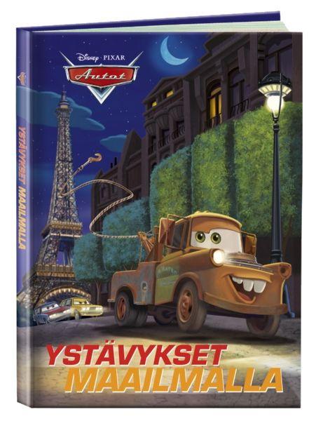 Autot: Ystävykset maailmalla -kirjassa kisataan niin Ranskassa kuin Italiassakin. Hinausauto Martti hälytetään Syylari Citystä suorittamaan salaista operaatiota Pariisiin ystäviensä Finn McMissilen ja Hollin avuksi, ja Martti ottaa Salama McQueenin mukaansa seikkailuun. Toisessa tarinassa ikuiset kilpakumppanit Salama ja Francesco Bernoulli päättävät ottaa viimein selvää siitä, kumpi on ykkönen.
