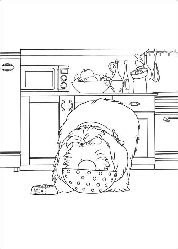 The Secret Life of Pets Coloring Pages 23