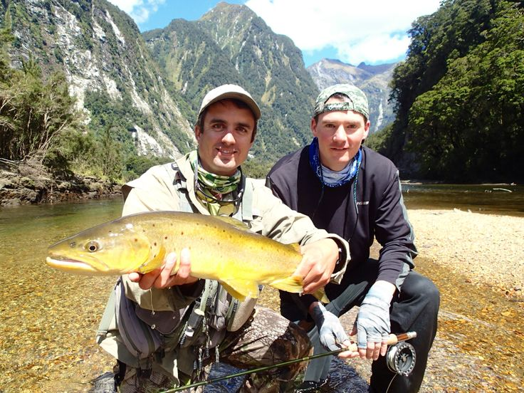 Success and good times for both guide Jake and client Joe. www.southernriversflyfishing.co.nz