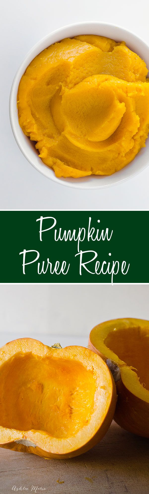how to easily make your own homemade pumpkin puree