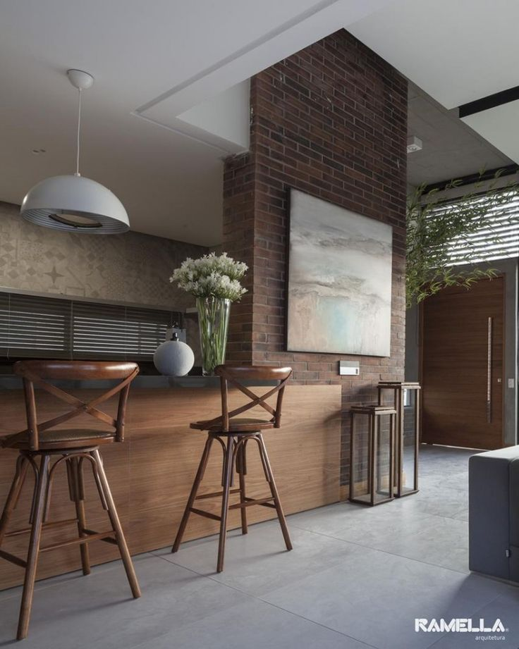 Casa Hoff / Ramella Arquitetura #churrasqueira #cozinha #kitchen