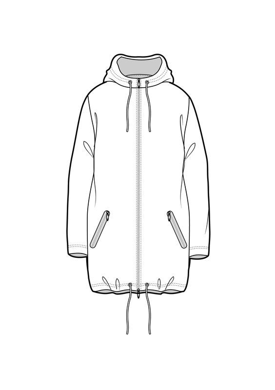 Line drawing www.sewingavenue.com: