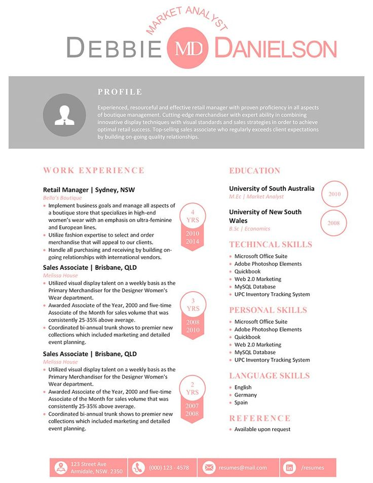 8 best Professional resume templates word editable images on - aquarium worker sample resume