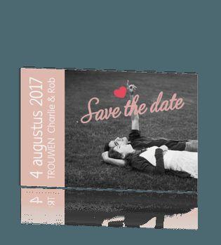 Hip en romantisch kaart huwelijksaankondiging