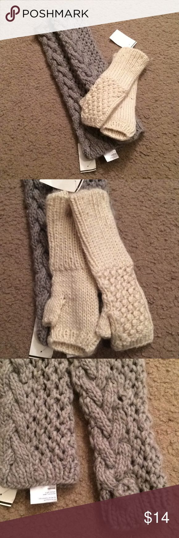 """$9 urban outfitters knit ecote fingerless gloves NWT! Originally from urban outfitters! Have label shopper discount store tags on them. Ecote brand. ✔The price in the beginning of the title of my listings is the bundle price. These prices are valid through the """"make an offer"""" feature after you create a bundle. These bundle orders must be over $15. Ask me about more details if interested.  ❌No trades ❌No holds ❌No model photos ❌No additional measurements ✔️everything pictured is included…"""