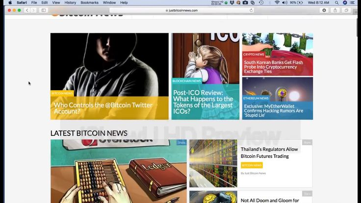First Look at justbitcoinnews com website