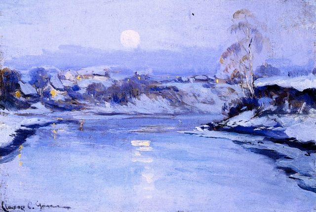 Le Prince Lointain: Clarence Gagnon (1881-1942), Moonlight - 1908/09.