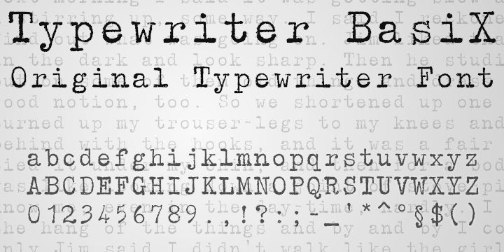 Typewriter BasiX - Webfont & Desktop font « MyFonts
