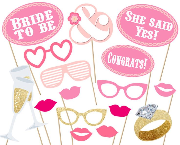 Bridal  party Photo booth Props Printable - Instant Download ! print digital file baby shower Bride Pink Set Bachelorette wedding by aliciapatios on Etsy https://www.etsy.com/listing/235154547/bridal-party-photo-booth-props-printable
