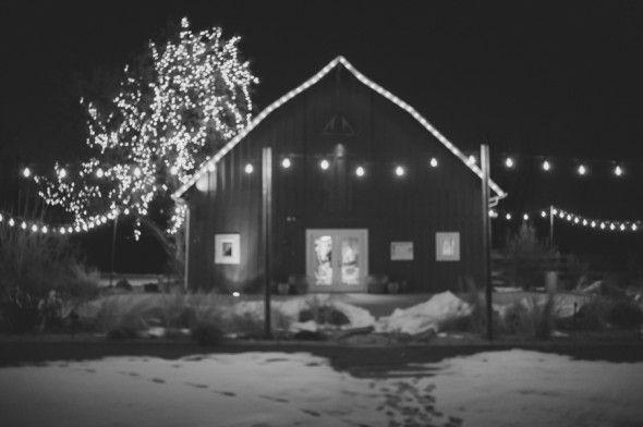 Winter Wedding In Barn
