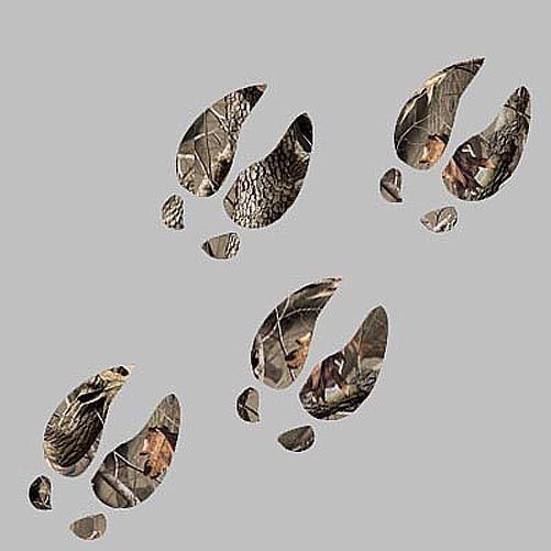 4 CAMO DEER TRACKS decals REALTREE PATTERN hunting buck truck window stickers