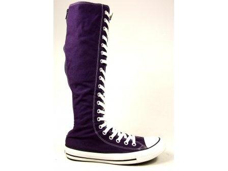 converse boots purple