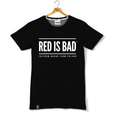 Koszulka patriotyczna RED IS BAD v.1 - logo klasyk - czarna - odzież patriotyczna, koszulki męskie Red is Bad