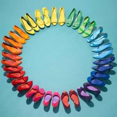 rainbow shoes - scarpe arcobaleno