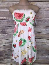 NEW Jams World Wally Amos Strapless Dress Ladies Medium Watermelon