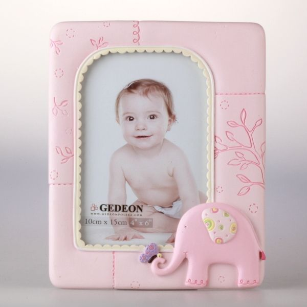 Różowa ramka gipsowa na zdjęcie 10x15 cm