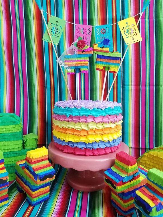 Mexican theme wedding cake topper