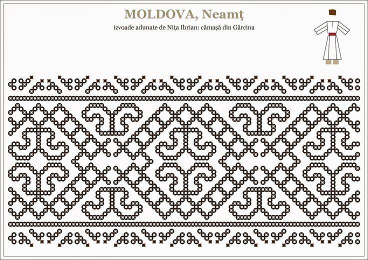 Semne Cusute: Romanian traditional motifs - MOLDOVA, Neamt / Garcina