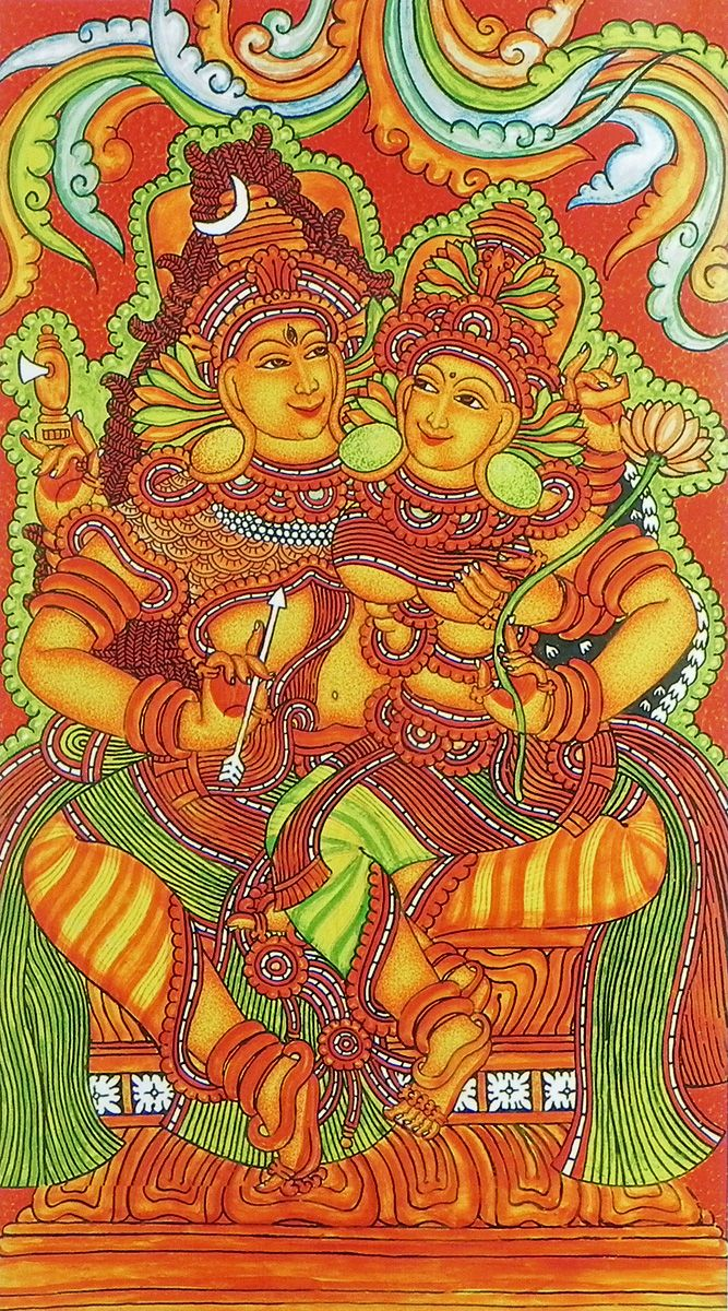 Shiva Parvati (Reprint on Paper - Unframed))