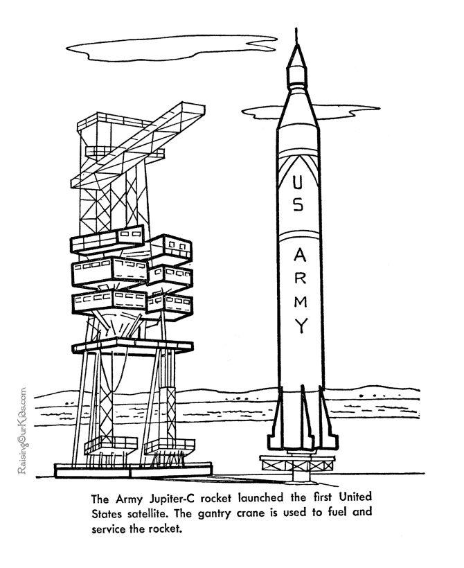rocket coloring sheet