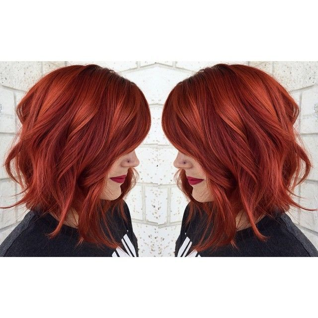 cool Hot copper red hair achieved from Aveda Color. Photo credit: www.instagram.com.....