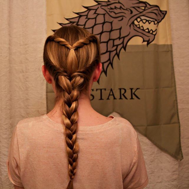 Game of Thrones inspired Sansa Stark braid from season 5!