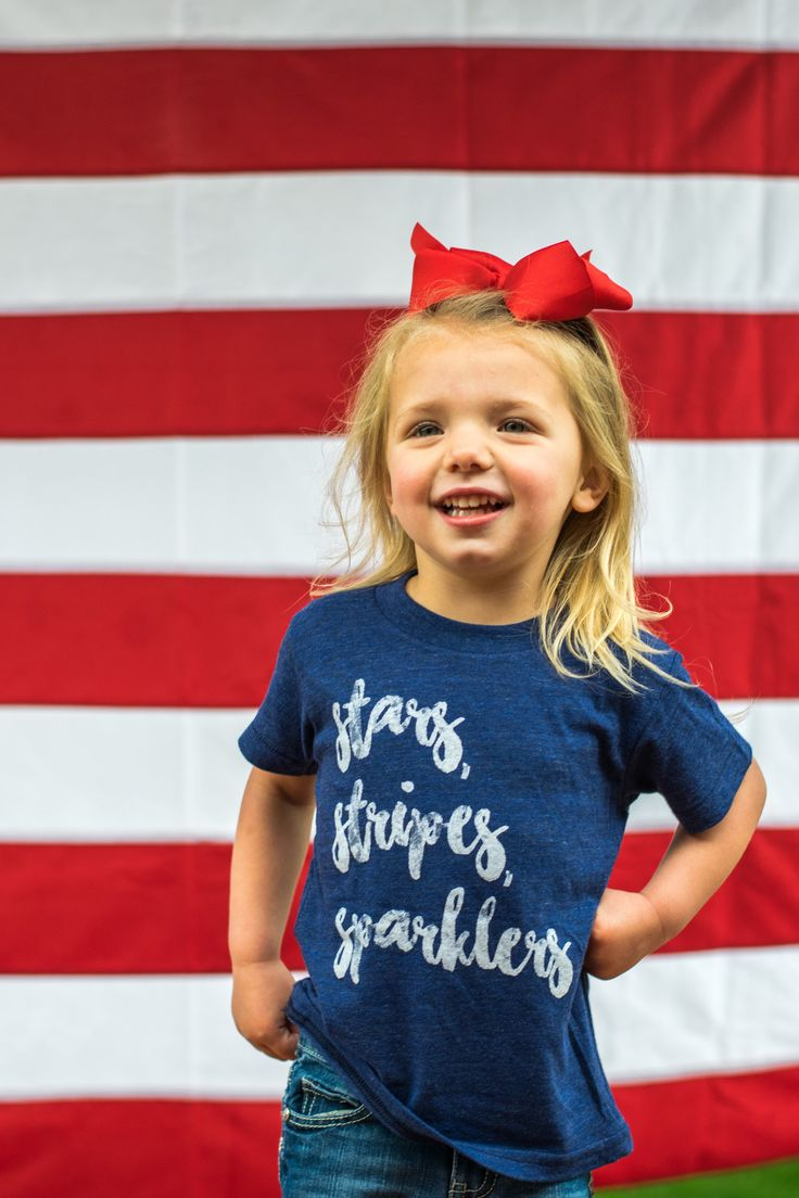 KIDS Stars Stripes Sparklers t-shirt. A must have for your little one this Fourth of July! 50% cotton 25% polyester 25% rayon. ALL CLEARANCE ITEMS ARE FINAL SALE.