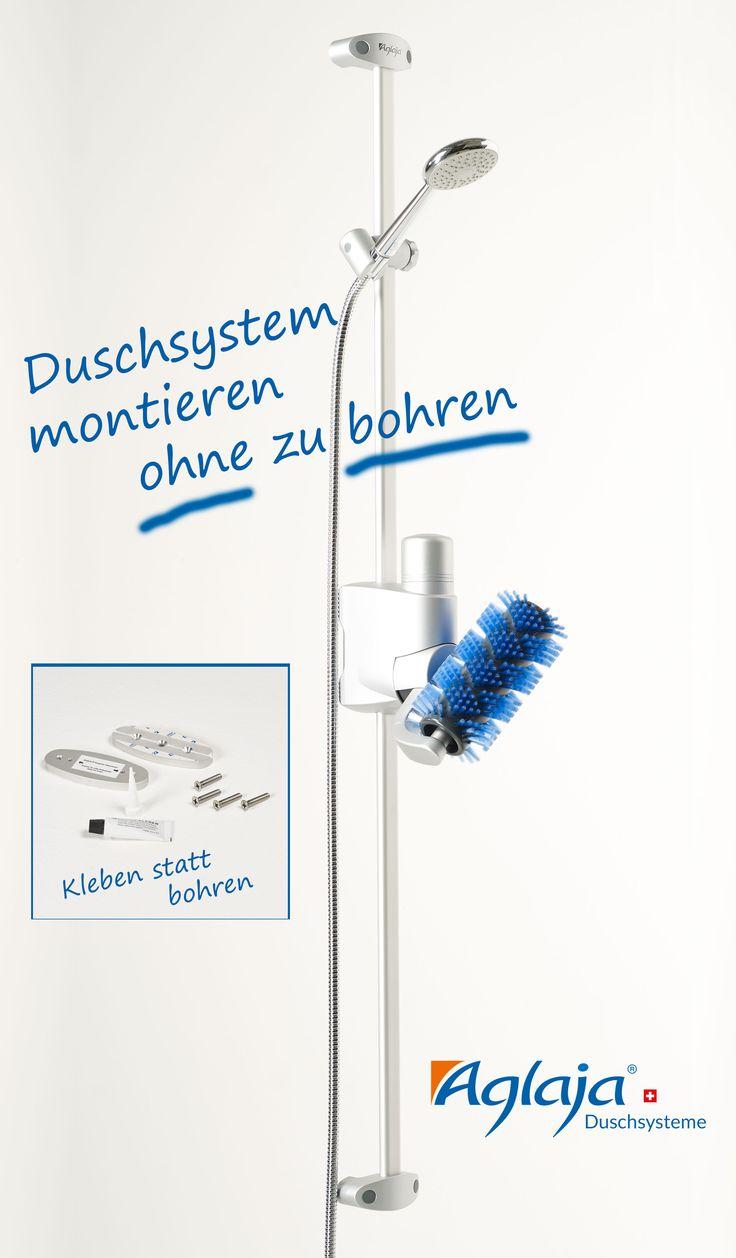 Möchten Sie das Aglaja Duschsystem montieren ohne zu bohren? Kein Problem mit der #bohrlosen Befestigungstechnik, die wir speziell für das Aglaja Duschsystem konzipiert haben.   Einfach und sicher! Ideal für #Fliesen, #Glasduschen, #Marmorbäder und #Dampfduschen!  #klebenstattbohren