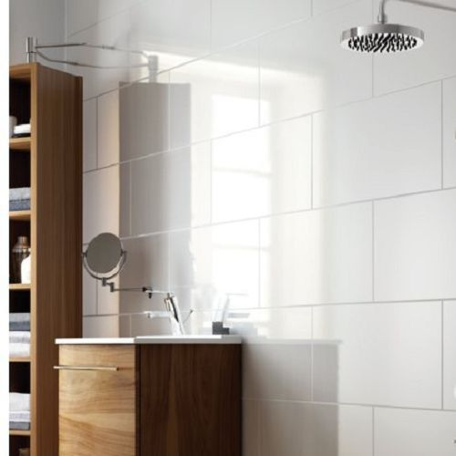 White Square Tile Bathroom 40 best even cheaper bathroom reno images on pinterest | home