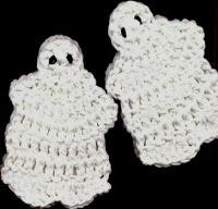 Nina's At My House: Halloween Ghost Coaster - free crochet pattern