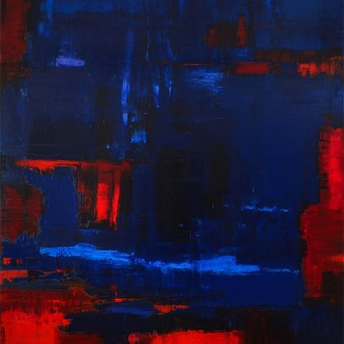 Reflection n°7: Blue on Red 2 – 2015