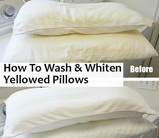 How to wash yellow pillow cases to make them white