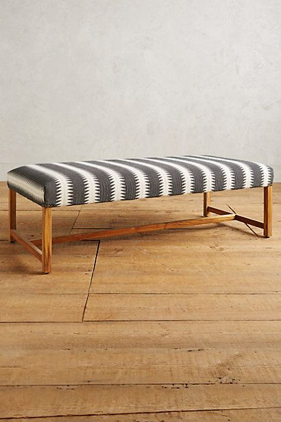 Woven Taviano Bench Anthropologie At Foot Of Bed Or As Divider Nyc 12th St Pinterest