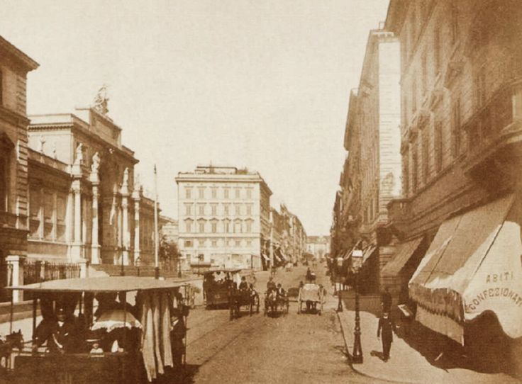 Srto3 - Società Romana Tramways Omnibus - Via Nazionale 1880