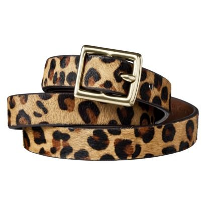 Great looking and only $16.99 what a steal, if I did already have a leopard belt I would get this one for sure. Merona® Leopard Print Calf Hair Belt - Brown/Tan