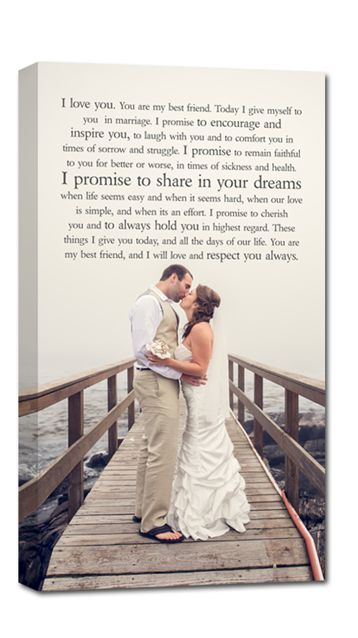 your wedding portrait and your wedding vows! such a special keepsake.